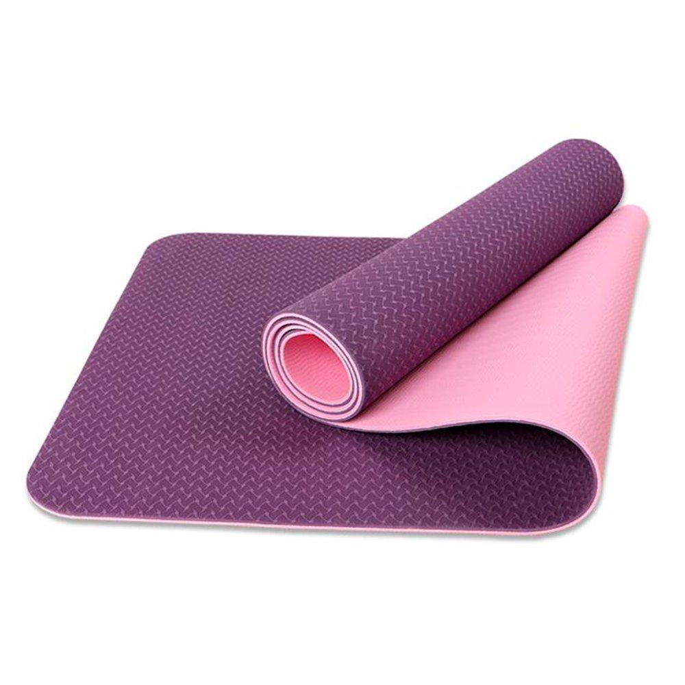 YJD TPE Anti-Rutsch-Yoga-Matte Sit-ups Fitness-Matte, Farbe Optional
