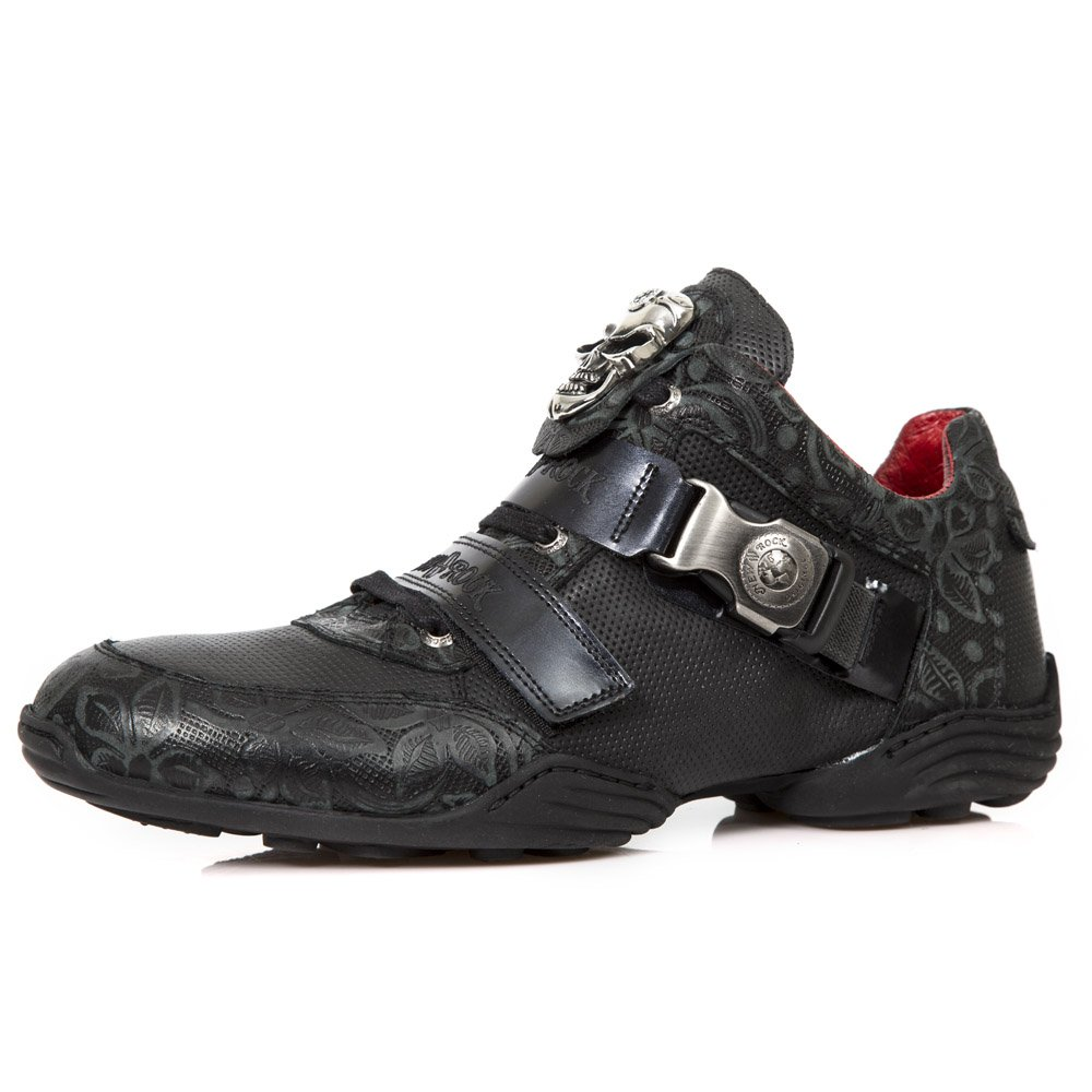New Rock M.HY036 S6 negro, Acero - botas, hombres