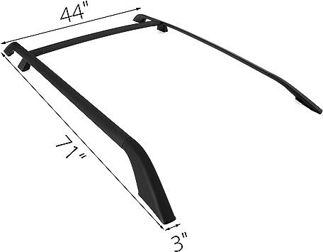 VEVO Roof Rack Rails Cross Bar 2006-2015 For La-nd Ro-ver LR2 Free-lan-der 3pcs Set