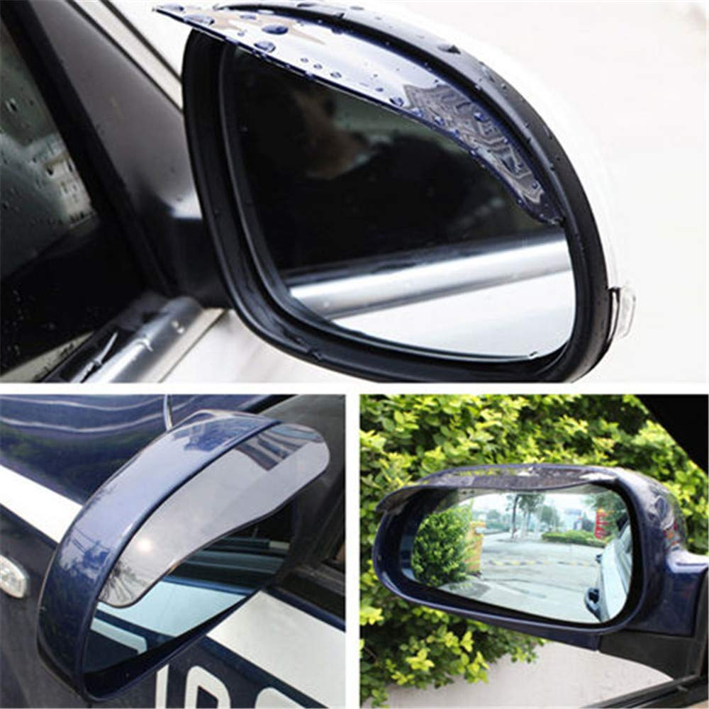 Clear rear view mirror rainfroof blade,Rain Eye Brow,Rain Protection Cover,Car Side Wing Mirror Rain Protector Cover Cap,Waterproof Eyebrow Rain Guard for Car Auto Rear View Mirror 2 Pack