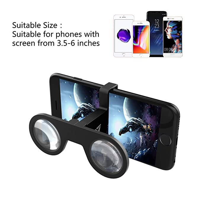 a7d13cd96392 Amazon.com  VeeR Mini VR Goggle Fits in Your Pocket - Foldable Glasses with  HD Lens for Android and iOS Smartphones  Cell Phones   Accessories