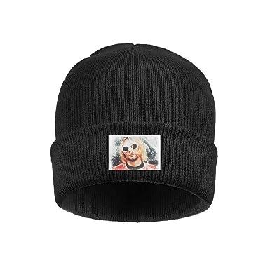 Uuu Hhhyy Kurt-Cobain-Iconic-Retro-Photo- Hat Winter Warm Wool ... b7f51af1f43
