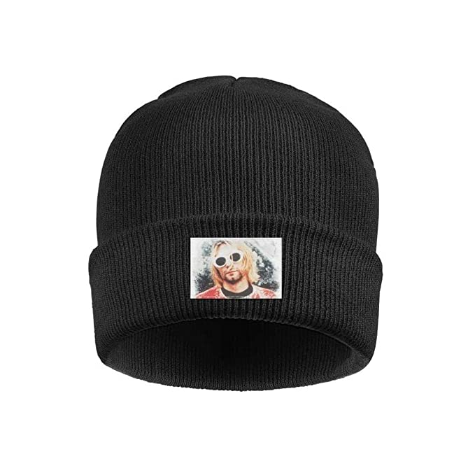 d1f656b17 Uuu Hhhyy Kurt-Cobain-Iconic-Retro-Photo- Hat Winter Warm Wool ...