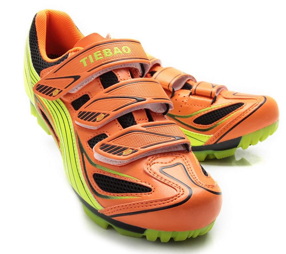 YOUJIADINA Hauszapatos de Ciclismo súper Fibra Nano Vamp Fibra de Vidrio, cómodas, Transpirables Antideslizantes, zapatos de Bloqueo Transpirables zapatos de Bicicleta de Carretera fluorescentamarillo