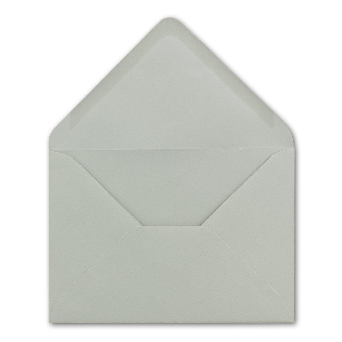 chiusura adesiva da inumidire 100 Umschl/äge grigio chiaro Buste da lettere da 80 g//m/² in colori vivaci formato B6 dimensioni/175 x 125/mm Neuser