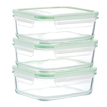 Great Kinetic GoGREEN Glassworks Series 6 Piece Rectangular Oven Safe Glass Food  Storage Container Set 30