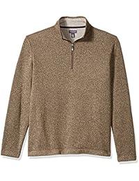 Van Heusen Mens Flex Long Sleeve 1/4 Zip Sweater Fleece