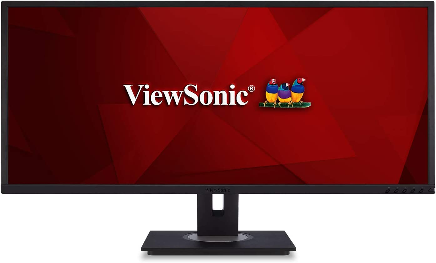 ViewSonic VG3448 34 Inch Ultra-Wide 21:9 WQHD Ergonomic Monitor with HDMI DisplayPort USB, 40 Degree Tilt and FreeSync for Home and Office: Computers & Accessories