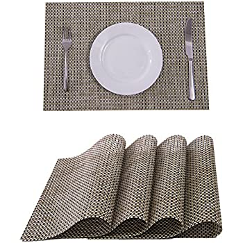 Charming Set Of 4 Placemats,Placemats For Dining Table,Heat Resistant Placemats,  Stain