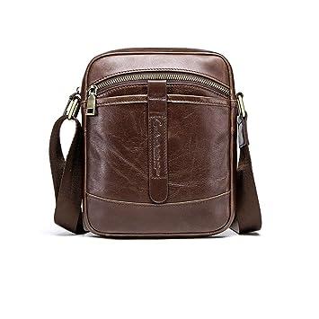 1e0cb6931c1d PPGE Fashion Leather Men s Shoulder Bag Men s Messenger Bag Retro Vintage Casual  Bag Everyday Crossover Shoulder