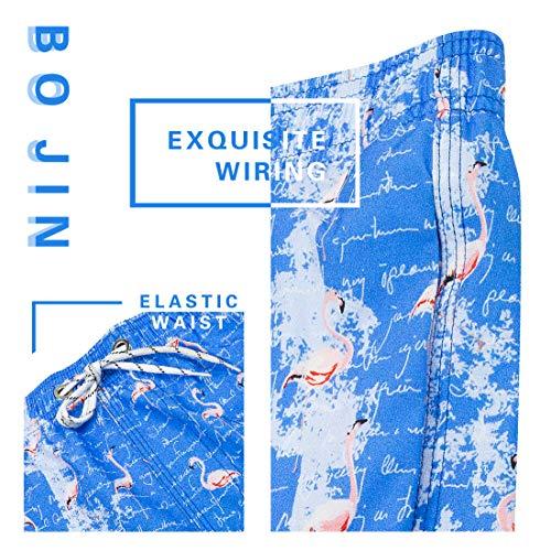 Mens Swim Trunks with Pockets Beach Swimwear Quick Dry Long Elastic Waistband Board Shorts Bathing Suits Holiday(SA04)-2XL Blue