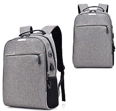 95e24b4d43a3 Amazon | ゆーたん(U-TAN)リュックサック バックパックビジネスリュック 盗難防止 パスワードローク 大容量 ラップトップバック  USBポートイヤホンホールミニライト ...