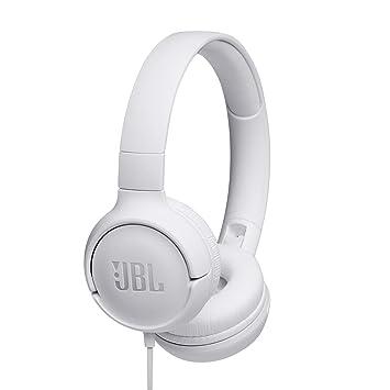 JBL Tune500 - Auriculares supraaurales de cable y control remoto de un solo botón, micrófono incluido, ssistente Google Now o Siri, blanco: Amazon.es: ...