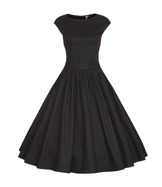 FStory Hepburn Kleider Knielanges Vintage 50er Rockabilly ...