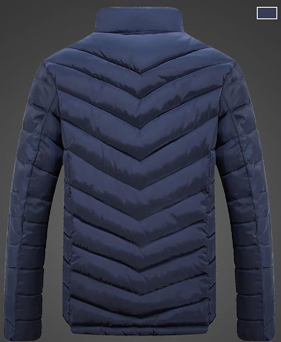 XiaoShop Men Thick Warm Stand Collar Casual Puffer Down Outwear Jacket