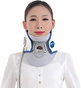 Wgwioo Medical Neck Cervical Traction Device Relief From Neck And Upper Back Pain Portable Home Use,Gray