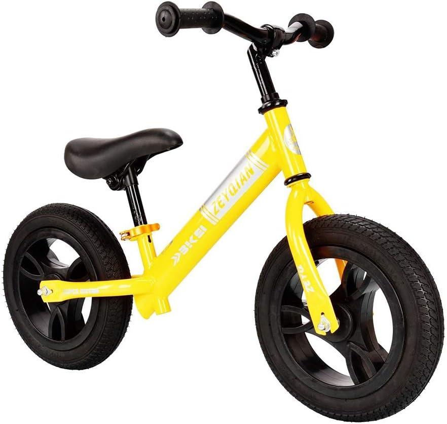 LIMUZI Balance de Bicicletas, n-Pedal de Bicicleta de Equilibrio for Caminar Los niños de 3 a 6 años de formación de Bicicletas con Asiento Ajustable Interior Al Aire Libre