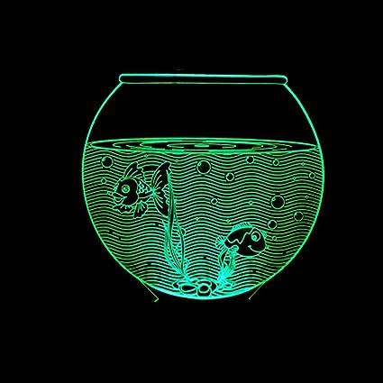 Lozse 3D Luces de la Noche, Colorido de la lámpara pequeña Mesa de 3D Acuario
