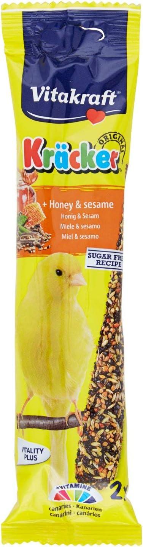 VITAKRAFT barritas de miel y sésamo para canarios bolsa 60 gr