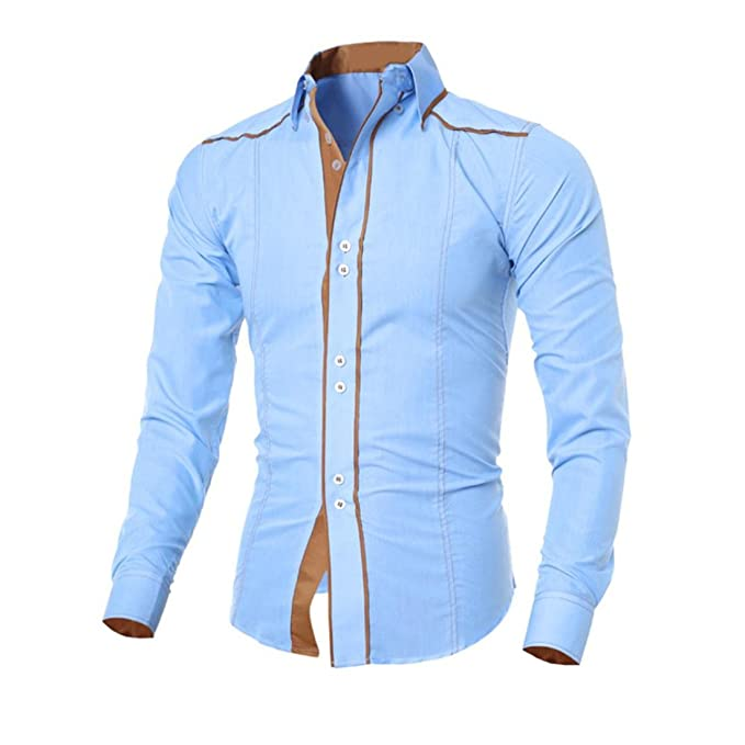 Malloom Herren Mode Langarm Hemd Beiläufige T-Shirt Bluse Top: Amazon.de:  Bekleidung