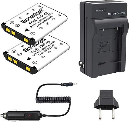 USB Cargador doble 2x premium batería para Pentax d-li63//d-li108