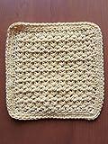 Handmade crochet washcloths, dishcloths, rags, wipes or pot holder 100% cotton