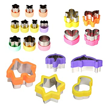 Ineibo Sandwiches Cheese Cutter Cookie Cutters Fruit Veggie Cute