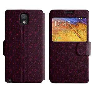 LEOCASE círculos fresco Funda Carcasa Cuero Tapa Case Para Samsung Galaxy Note 3 N9000 No.1005186
