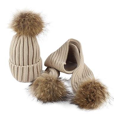 Mounter Garçons Fille Bébé Hiver Chaud Bonnet, Noël Mignon Mode Rayures  épaissies Tricot Crochet Laine d234d042ffa