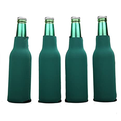 12 Navy Blue Blank Foam ZIPPER Longneck BOTTLE Holders Beer Bottle Coolers