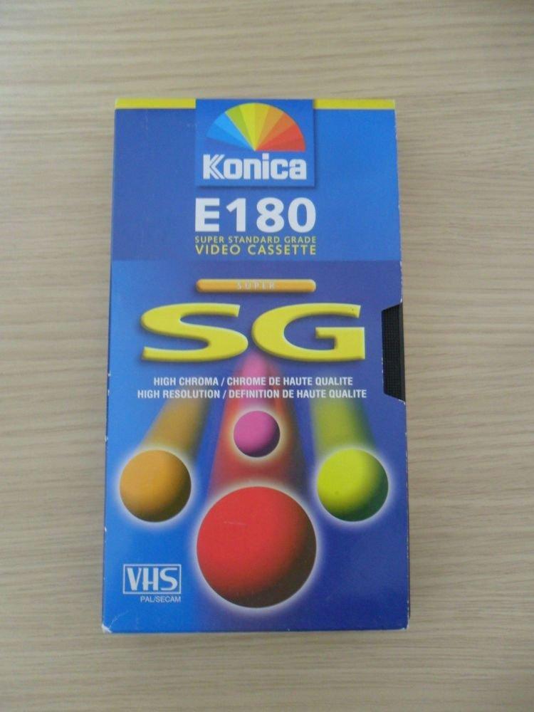 PACK OF 4 KONICA E180 SUPER STANDARD GRADE VHS VIDEO CASSETTE E-180SXF