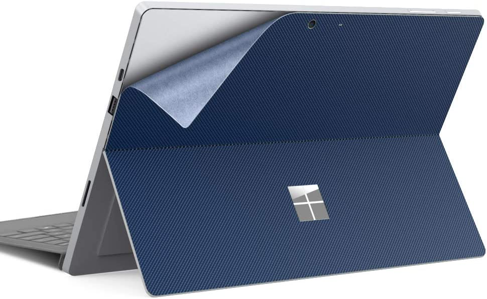Dadanism Skin Sticker Cover Decals Fits Microsoft Surface Pro 7/ Pro 6/ Pro 5/ Pro 4/ Pro LTE, PU Back Skin Sticker Paster Anti-Scratch Body Decal Protective Laptop Skin Cover Protector - Indigo