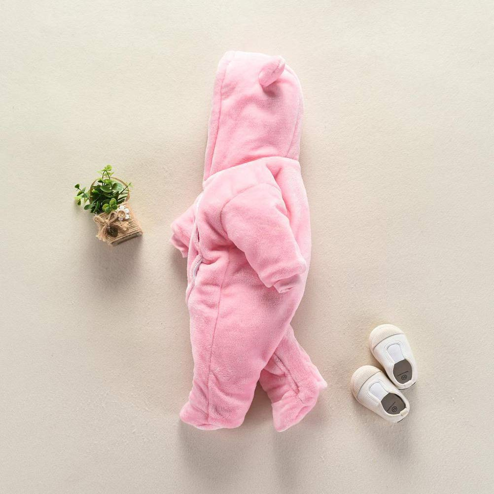 d94957c7f ... FENICAL Mameluco con capucha y osito de dibujos animados animados  animados mono cálido para bebés recién