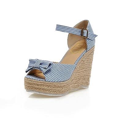 Femmes Jitain Talons Sandales Bride Chaussures Hauts Compensées 9HeEbI2WDY