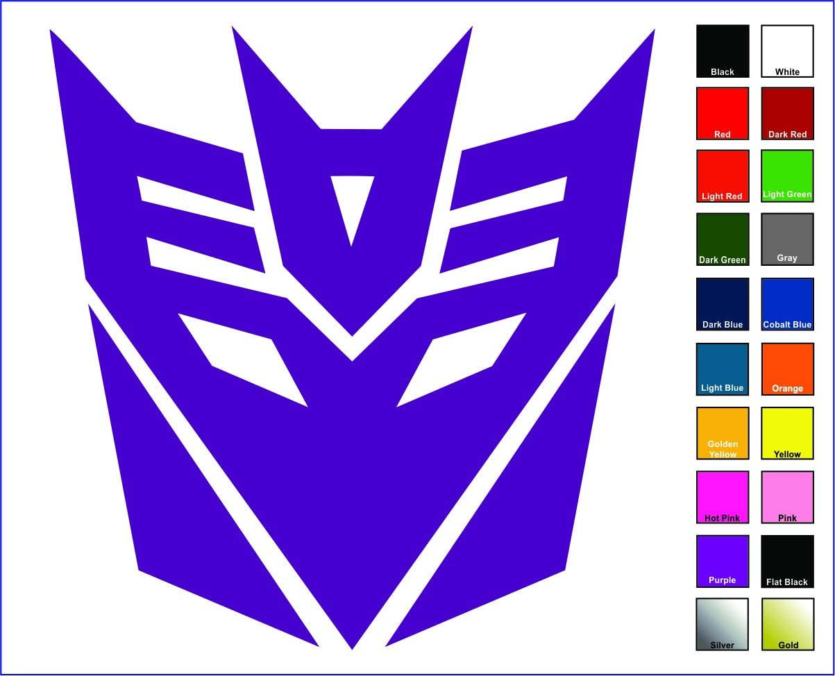 "Cove Signs Decepticons Sticker/Decal - Purple 4"" - Transformers Megatron"