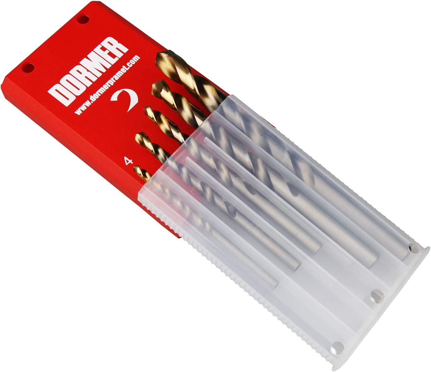 Dormer A120 HSS High Speed Steel Stub Drill Bit with 118 Degree Split Point Pack of 10 pcs
