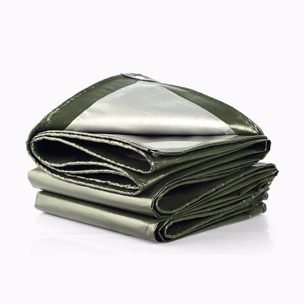 Teloni Telo Impermeabile Telo Impermeabile Telo Protettivo telone Triciclo Telo Tenda Telo Tenda Bupei, verde Militare + Grigio argentoo, Spessore 0,35 mm, 180 g   m2, 11 Opzioni Dimensioni
