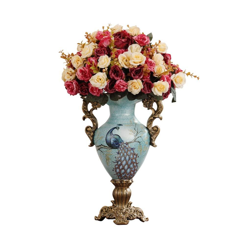 花瓶用花緑植物結婚式植木鉢装飾ホームオフィスデスク花瓶花バスケットフロア花瓶農村スタイル樹脂 B07RMV9HVZ