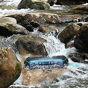 Waterproof Bluetooth Speaker, ELEGIANT Wireless Portable Speaker Bluetooth 4.2V IPX 7 HD Audio and Enhanced Bass Shockproof Speaker with Mic Shower Radio(12 Hrs)for iPhone Shower Outdoors Bike