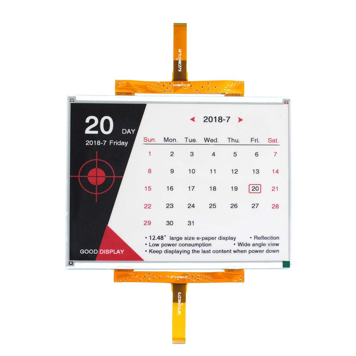 GooDisplay 12.48 Inch Color Large E-Paper Screen Eink Display Electronic Paper Display Panel Black White Red by GooDisplay (Image #1)