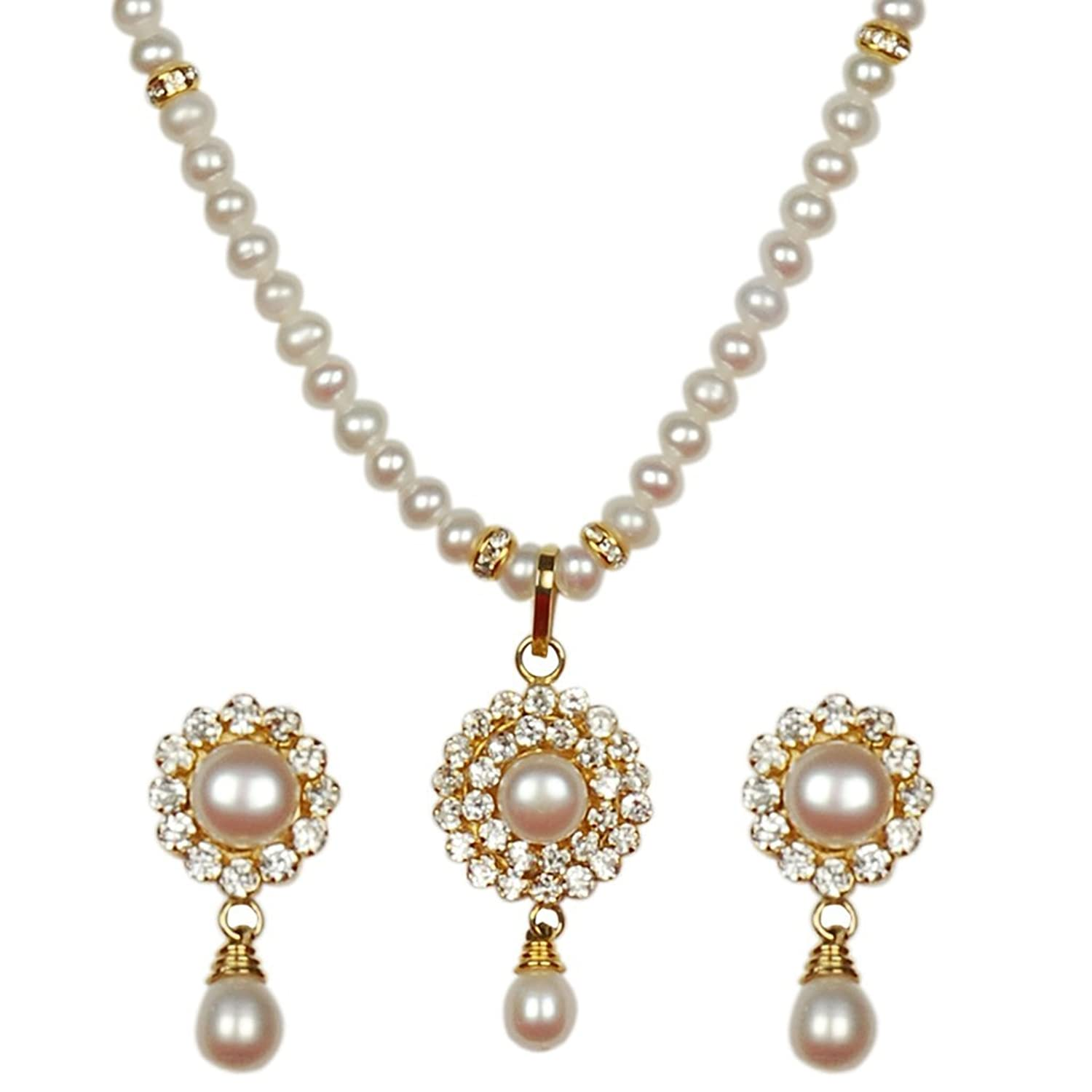 jewellup choker kundan necklace designer jr in pearl with product