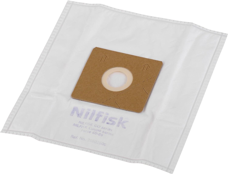 Nilfisk 78602600 Bolsas aspiradoras y prefiltros, Blanco, paquete ...