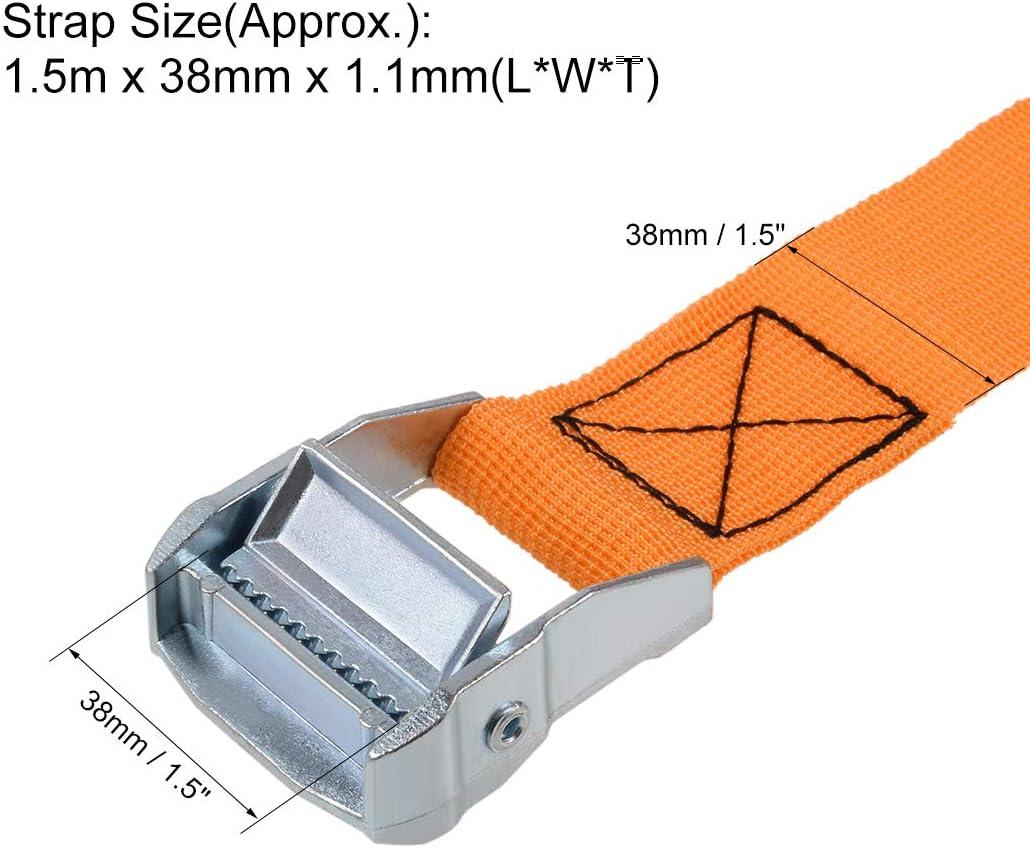 Cinghia di fissaggio con fibbia a camma in polipropilene Sourcingmap 1,5 x 38 mm 500 kg confezione da 4