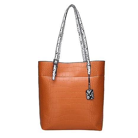 Shoulder Bags for Women,SIN+MON Ladies Canvas Top-Handle Bag Tote Bag Fashion Travel Bag Retro Long Strap Shopping Handbag