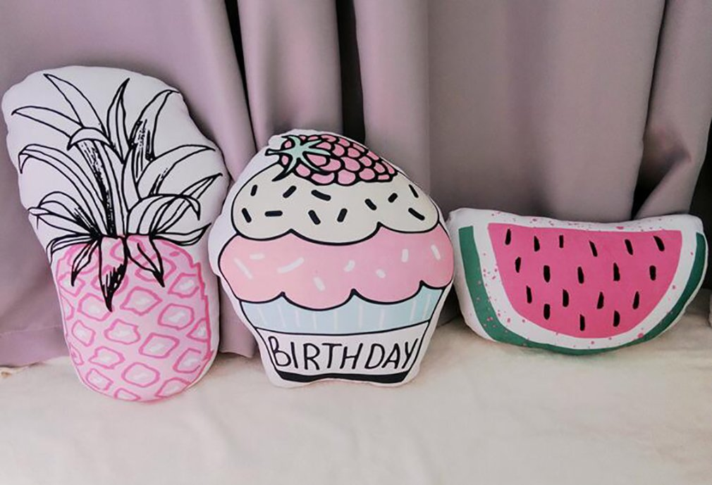 Cute Summer Back Cushion, Decorative Throw Pillow,Simulation Pillow Cushion,Plush Toy, Travel Pillow,Gifts for Kids (Watermelon 4030cm/16''12'') by PWXH (Image #4)