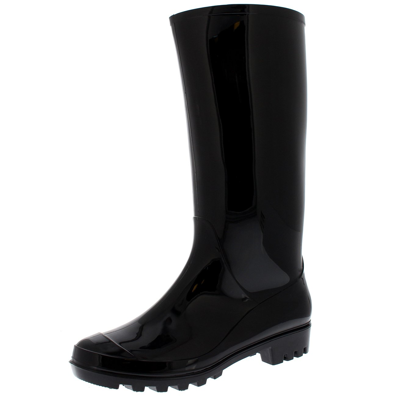 Womens Original Tall Winter Snow Wellingtons Muck Waterproof Boots - Black Gloss - US8/EU39 - BL0283