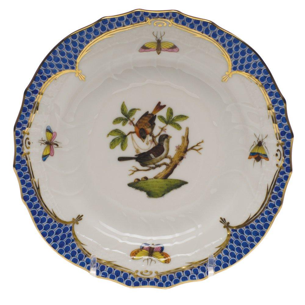 ヘレンドのRothschild鳥ブルーブレッド&バタープレートモチーフ# 4   B003JTX5EM