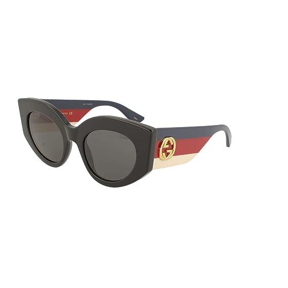 Amazon.com: Gucci gg0275s 001 negro gg0275s lente ovalada ...
