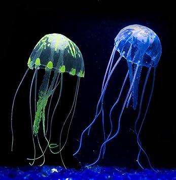 SDCXV Acuario pecera Ornamento Brillante Efecto Medusas Artificiales (púrpura) Casa: Amazon.es: Hogar