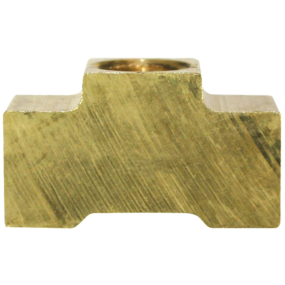 Brass T-Fitting (Union) All SAE 3/8' X 24 Thread - Inverted Flare - Pack of 10 4LifetimeLinesTM